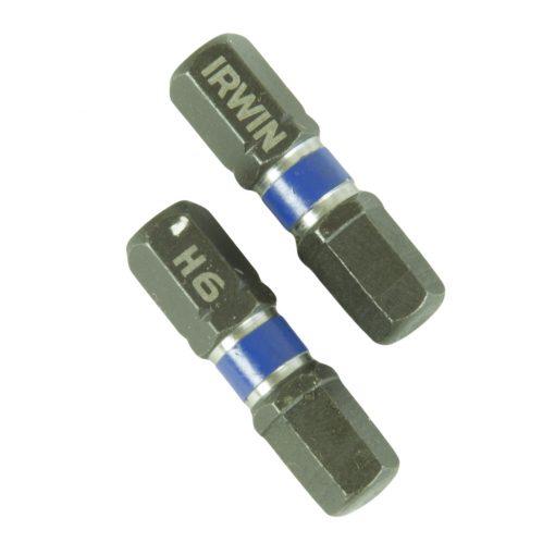 Konekärki Irwin 6 mm kuusiokolo  2 kpl / paketti - impact