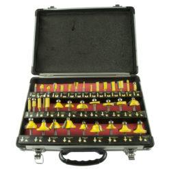 Jyrsinteräsarja Procat 35 osaa   alumiinisalkku 8 mm istukka
