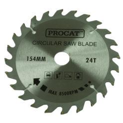 Pyörösahanterä Procat 154 x 24H  keskiö 20 mm prikat 16 ja 13 mm