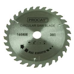 Pyörösahanterä Procat 160 x 30H  keskiö 20 prikka 16 mm