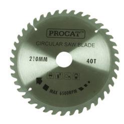 Pyörösahanterä Procat 210 x 40H  keskiö 30 prikka 16 mm