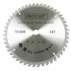 Pyörösahanterä Procat 205 x 48H  keskiö 16 mm